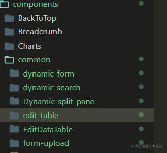 项目中常用的组件