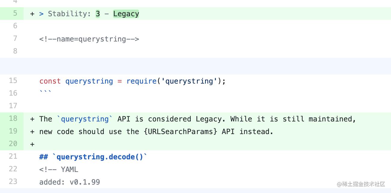 querystring API 考虑被遗弃